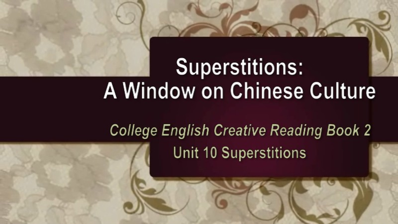 Superstitions: A Window on Chinese Culture