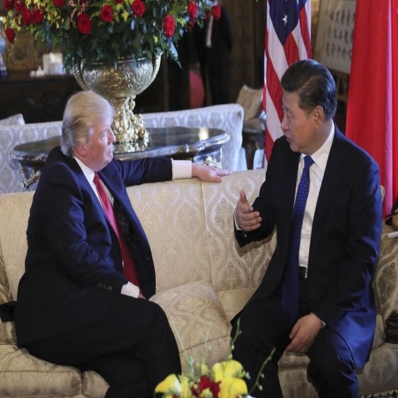 练习 | President Trump Holds A Meeting with President Xi of China