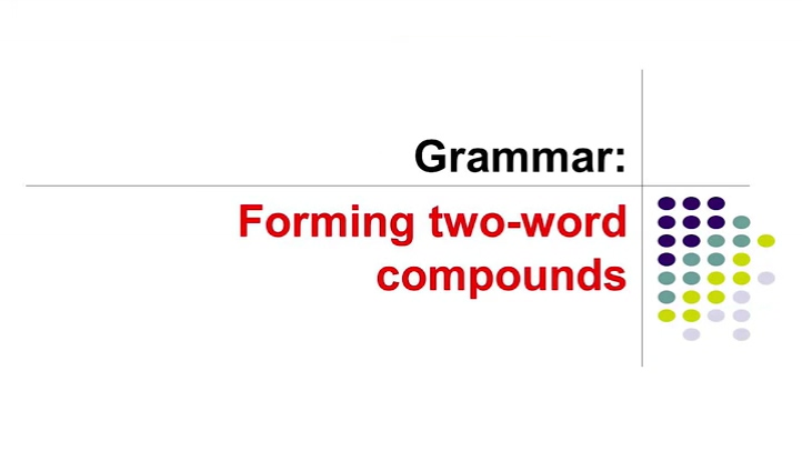 Forming Two-word Compounds